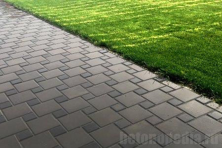 тротуарная плитка на основе из бетона
