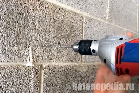 Просверлить бетон коронкой потолки бетон